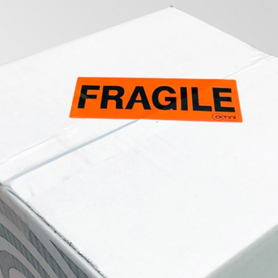 Omni Fragile Message Label