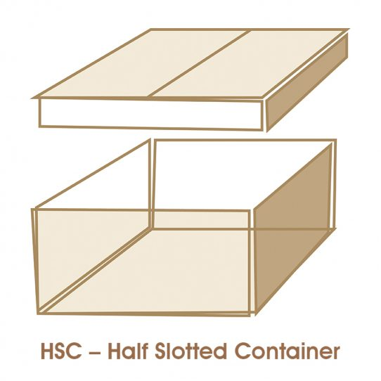 hsc half slotted container 1